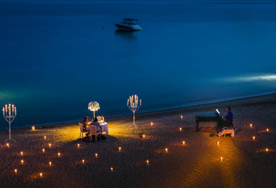 Romantic dinner Greece